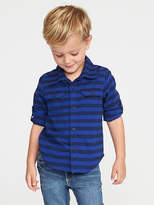 Old Navy Striped Roll-Sleeve Utility Shirt for Toddler Boys
