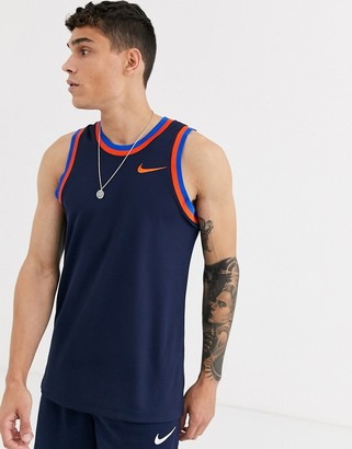 Nike Basketball classic tank in navy