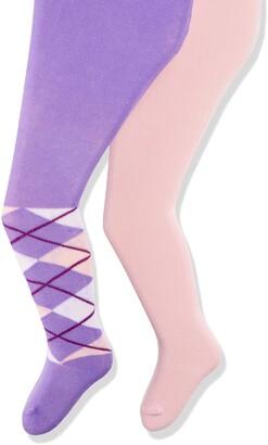 Playshoes Baby Girls' elastisch Kariert und Uni mit Komfortbund Tights