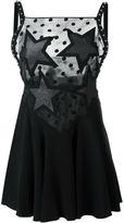 Giamba lace panel mini dress - women - Polyester/Spandex/Elastane/Viscose - 42