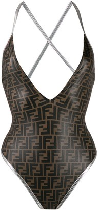 Fendi FF monogram print swimsuit