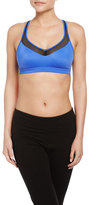 Wacoal Wireless Mesh-Panel Sports Bra, Blue/Black