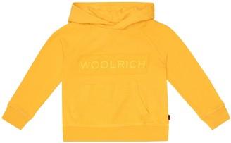 Woolrich Kids Logo cotton-jersey hoodie