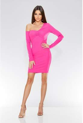 Quiz Fuchsia One Shoulder Bodycon Dress