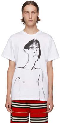 Loewe White Portrait Print T-Shirt