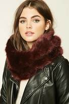 Forever 21 Faux Fur Infinity Scarf