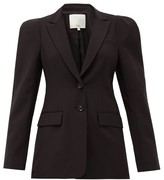 Tibi Exaggerated-shoulder Single-breasted Blazer - Womens - Black