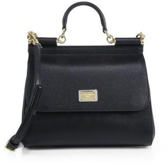 Dolce & Gabbana Medium Sicily Leather Top Handle Bag