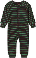 Mini Rodini Black and Green Stripe Jumpsuit