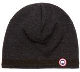 Canada Goose Logo-appliqué Wool Beanie Hat