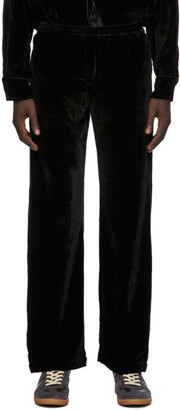 Cmmn Swdn Black Wool Velvet Kylo Trousers