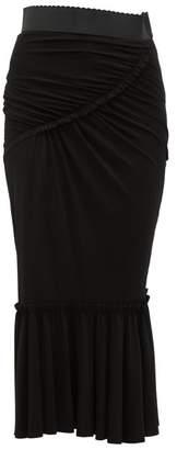 Dolce & Gabbana Fishtail Midi Skirt - Womens - Black