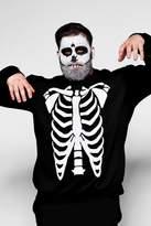 Big And Tall Skeleton Print Sweatshirt
