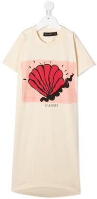 Mini Rodini shell print T-shirt dress