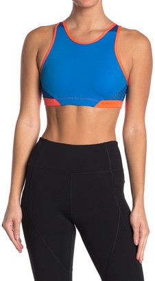 Wear It To Heart Contrast Trim High Neck Sports Bra