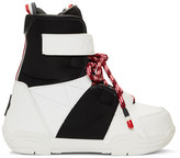 Moncler Black and White Norah Boots