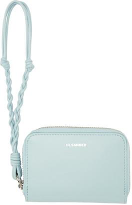 Jil Sander Blue Small Zip-Around Wallet