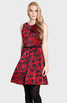 'Cadence' Print Pleated Fit & Flare Dress
