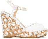 Jimmy Choo Perla 120 sandals - women - Cotton/Leather/rubber - 38.5