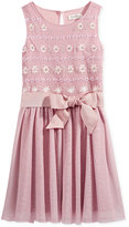 Jessica Simpson Floral-Print Mesh A-Line Dress, Big Girls (7-16)