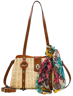 Patricia Nash Marcianise Satchel (Natural/Tan/FB Scarf) Bags