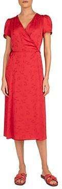 Gerard Darel Sara Jacquard Wrap Dress