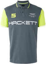 Hackett brand print polo shirt - men - Cotton/Spandex/Elastane - S