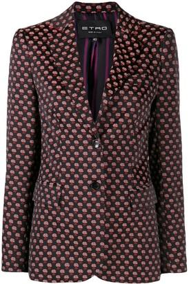 Etro floral jacquard blazer