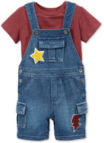 First Impressions Baby Boys' 2-Pc. T-Shirt & Shortall Set, Only at Macy's