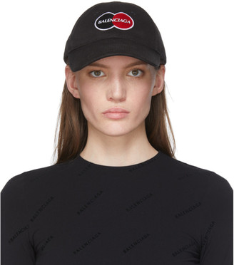 Balenciaga Black Uniform Logo Cap