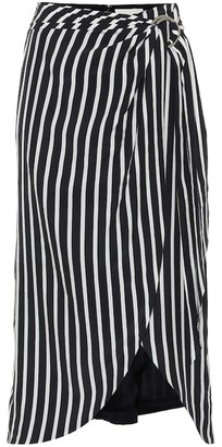 Jonathan Simkhai Striped wrap skirt