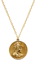 """Kenneth Jay Lane Women's 32"""" Satin Gold Coin Pendant Necklace"""
