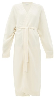 Raey Long Belted Cashmere Shawl Cardigan - Womens - Ivory