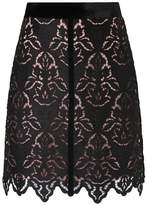 LK Bennett Elouise Black Lace Skirt