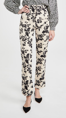 Rodarte Beige Denim Straight Leg Pants