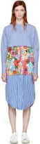 Ports 1961 Blue Striped & Floral Shirt Dress