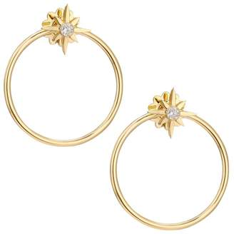 Roberto Coin Disney x Princess Cinderella Diamond Stud & 18K Yellow Gold Hoop Jacket Earring Set