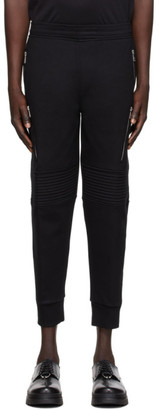 Neil Barrett Black Zipper Biker Lounge Pants