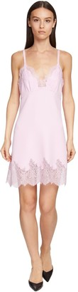 Ermanno Scervino Cady & Lace Slip Dress