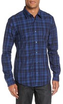 BOSS 'Reid' Trim Fit Large Check Sport Shirt