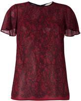 MICHAEL Michael Kors lace print top - women - Polyester - S