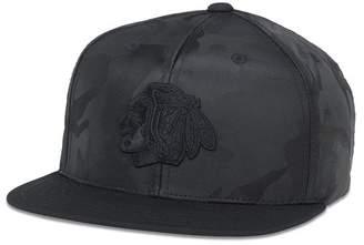 American Needle NHL Chicago Blackhawks Tonal Camo Patterned Flat Brim Baseball Cap