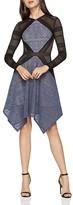 BCBGMAXAZRIA Chelsee Handkerchief-Hem Dress