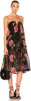 Nicholas Peony Floral Wrap Halter Dress