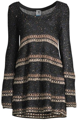 M Missoni Wool-Blend Striped Crochet Dress