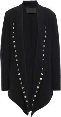 Alexander Wang Button-embellished Wool-blend Crepe Jacket