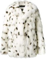 Saint Laurent Oversized Fox Fur Coat - women - Cotton/Fox Fur/Cupro - 36