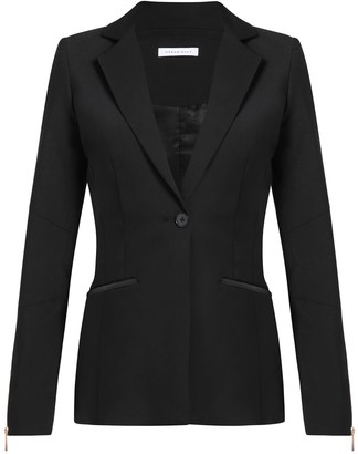 Urban Gilt Talbot Black Leather Trim Blazer