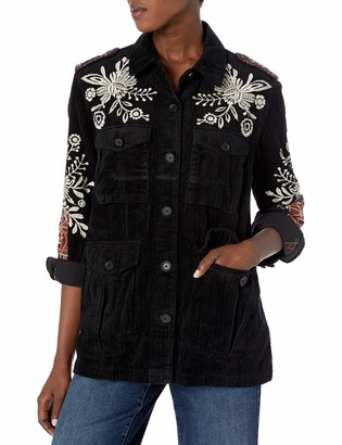 3J Workshop by Johnny was Women's Cotton Embroidered Military Jacket