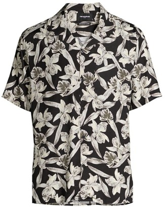 The Kooples Short-Sleeve Floral-Print Shirt